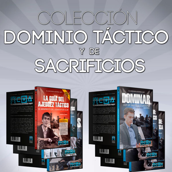 """Colección """"Dominio Táctico y de Sacrificios"""" de Imperio Ajedrez"""