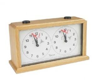 Reloj de ajedrez mécanico de madera INSA - Madera Clara