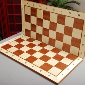 Tablero de Torneo Plegable en Madera de Arce y Caoba