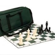 Set de ajedrez Premium - Piezas de ajedrez de plástico de la serie Marshall   Tablero para torneo  Bolso de ajedrez de lujo