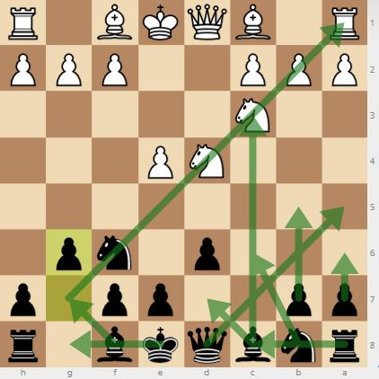 This is the starting position in the Sicilian Defense Dragon Variation.
