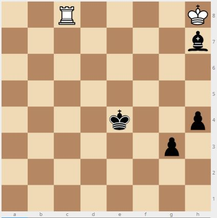 Estudio de ajedrez: Blanco mueve: ¿cómo puede el Blanco entablar?